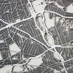 Queens Street Carving Map (Sold Out)