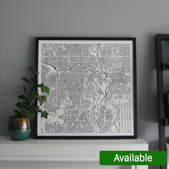 Calgary Street Carving Map
