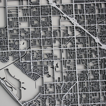 Huntington Beach Street Carving Map (Sold Out)