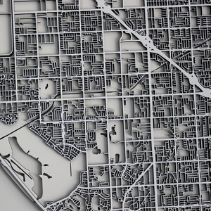 Huntington Beach Street Carving Map