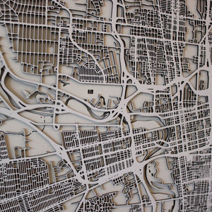Columbus Street Carving Map