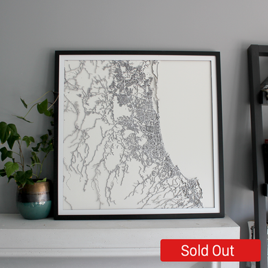 Gold Coast Street Carving Map (Sold Out)