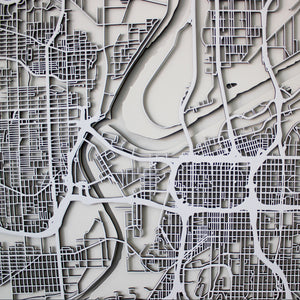 Kansas City Street Carving Map (Sold Out)