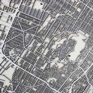 Montréal Street Carving Map (Sold Out)