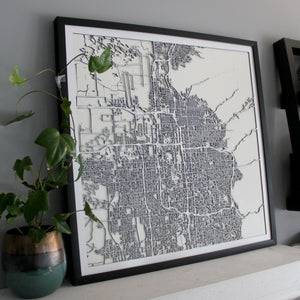Salt Lake City Street Carving Map (Sold Out)
