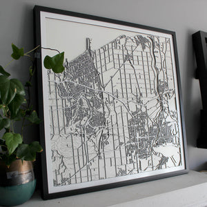 St. Catharines-Niagara Street Carving Map (Sold Out)