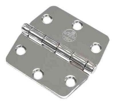 Top Mount Hinge 3x3 Stainless Steel
