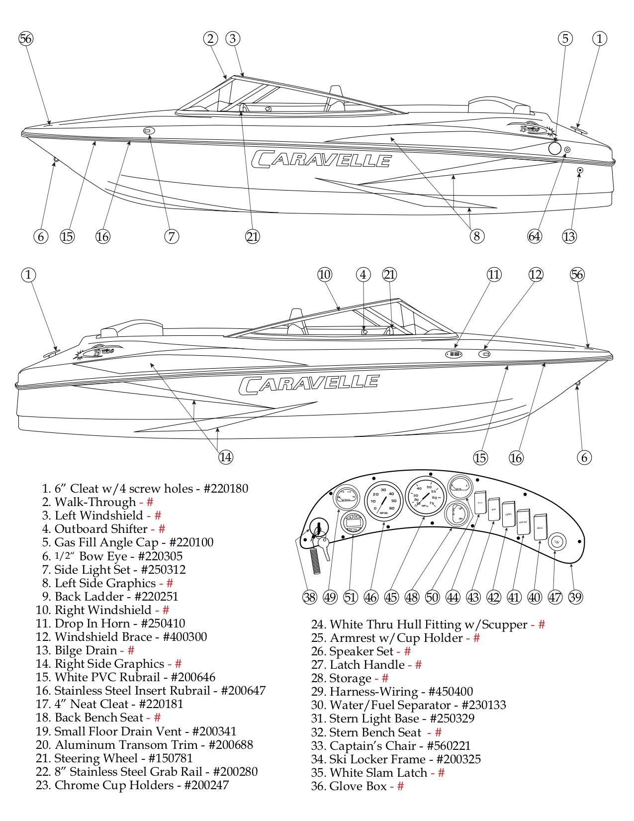 Pleasing Caravelle 19Ebo Parts Catalog Factory Direct Marine Parts Wiring 101 Ferenstreekradiomeanderfmnl
