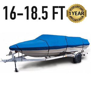 Universal Boat Cover : 16-18.5 FT : 1 Year Warranty