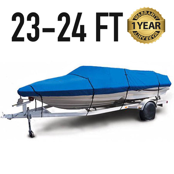 Universal Boat Cover : 23-24 FT : 1 Year Warranty