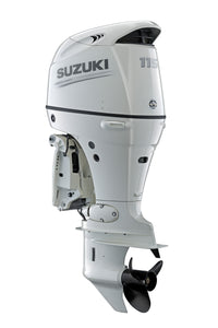"Suzuki Marine 115HP 25"" Outboard Engine - White - Counter Rotate"