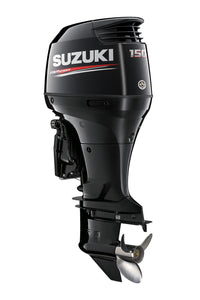 "Suzuki Marine 150HP 25"" Outboard Engine - Black- Counter Rotate"