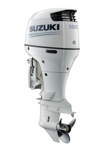 "Suzuki Marine 150HP 25"" Outboard Engine - White - Counter Rotate"