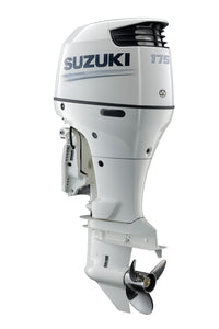 "Suzuki Marine 175HP 25"" Outboard Engine - Counter Rotate - White"