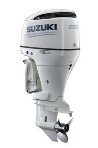 "Suzuki Marine 250HP 25"" Outboard Engine - Counter Rotate - White"