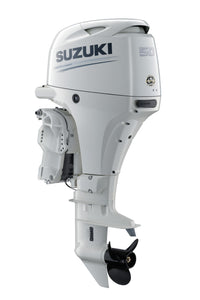 "Suzuki Marine 50HP 20"" Outboard Engine - White"