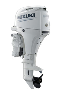 "Suzuki Marine 60HP 20"" Outboard Engine - White"