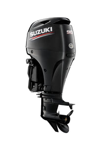 "Suzuki Marine 90HP 20"" Outboard Engine - Black"