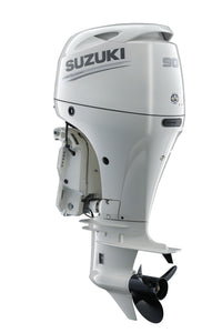 "Suzuki Marine 90HP 25"" Outboard Engine - White"
