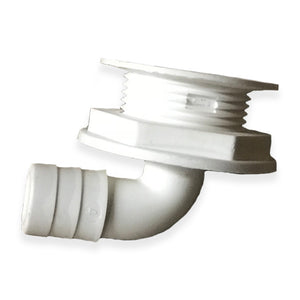 "3/4"" Barbed 90°  All Purpose Drain - White"