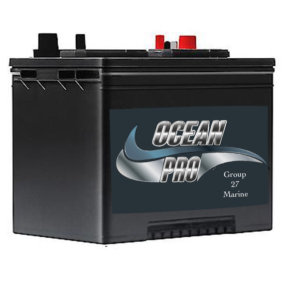 Ocean Pro Group 27 Marine Battery : 90 AH