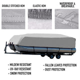 Pontoon Boat Cover : 19-22 FT : 1 Year Warranty