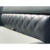 Right Angle Corner Arch Pontoon Sofa with Cup Holders