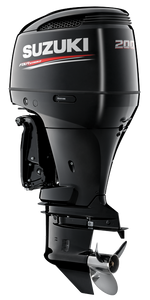 "Suzuki Marine 200HP 25"" Outboard Engine - Black"