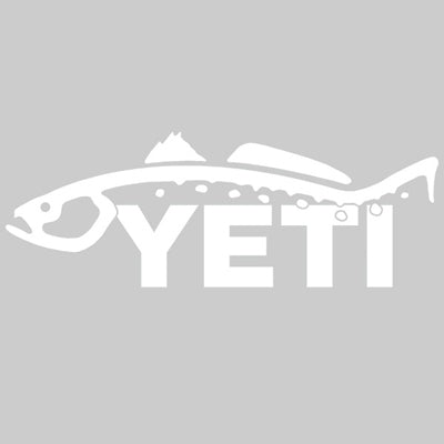 Yeti Trout Decal Sticker