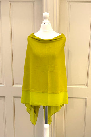 Light Weight Poncho - lime green