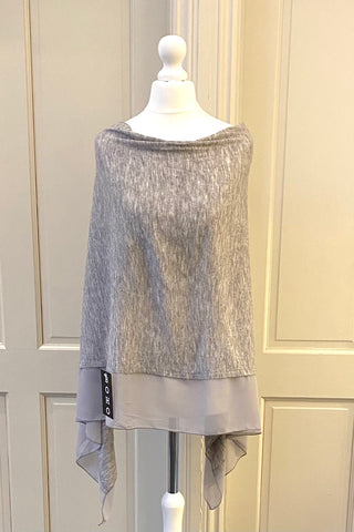 Light Weight Poncho - grey