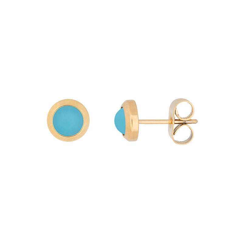 i.X.X.X.i Studs Matt Aqua  - gold or Rose gold