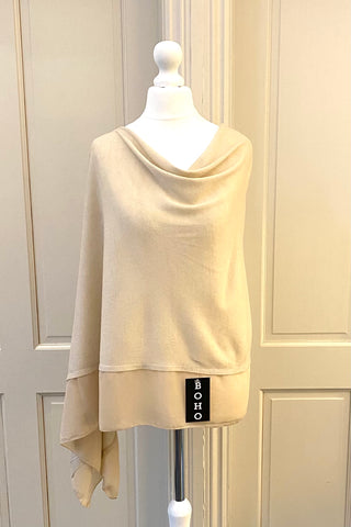 Light Weight Poncho - beige