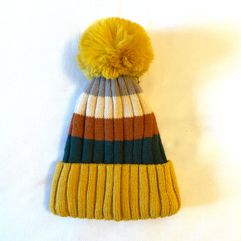 Bobble Hat - mustard