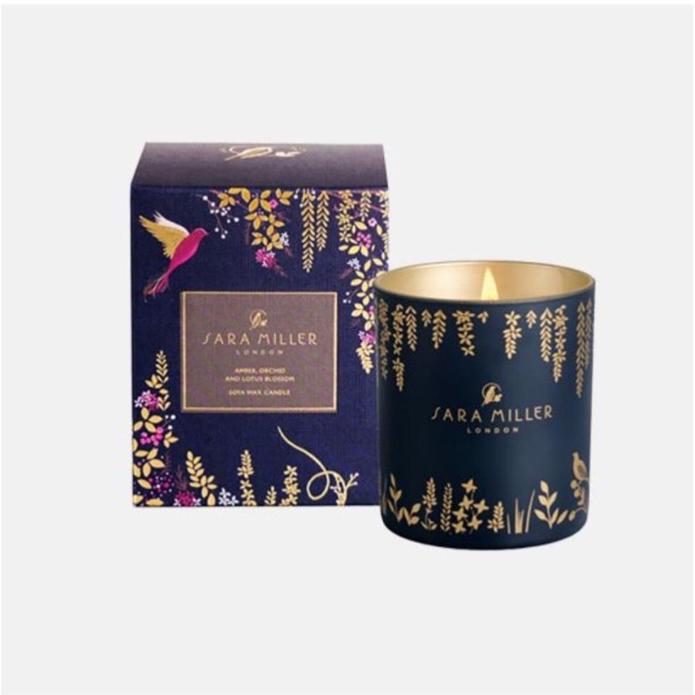 Sara Miller Soya Wax Candle - Amber Orchid and Lotus