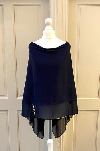 Light Weight Poncho - navy
