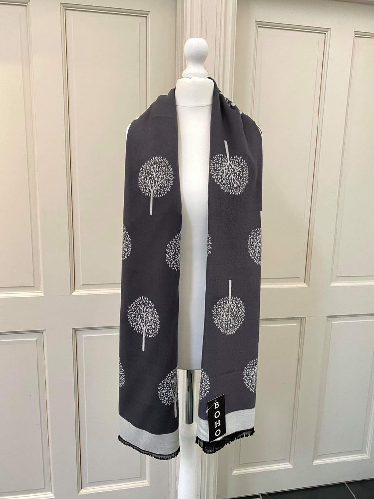 Mulberry Scarf - Grey/Cream