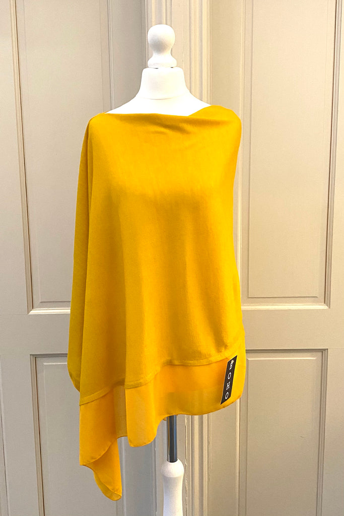 Light Weight Poncho - mustard