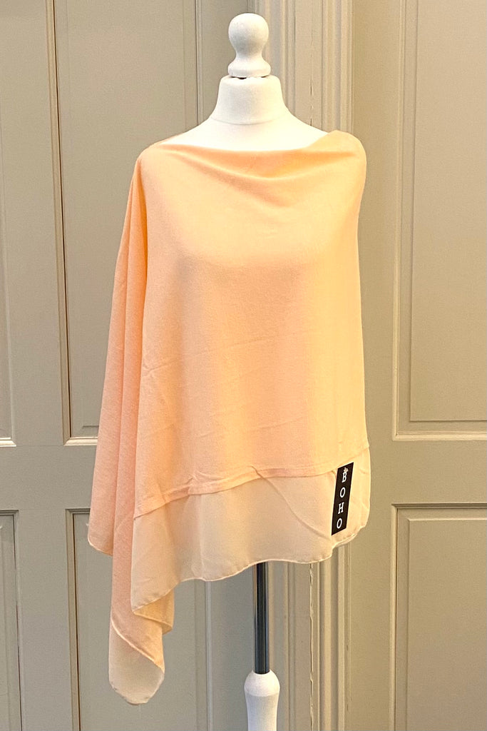 Light Weight Poncho - baby pink