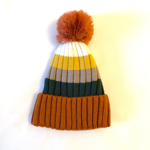 Bobble Hat - rust