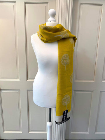 Mulberry Scarf - Mustard Yellow/Cream