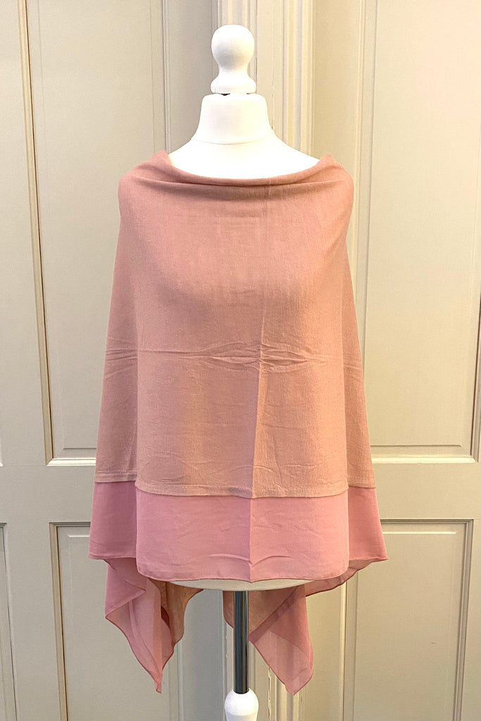 Light Weight Poncho - dusky pink
