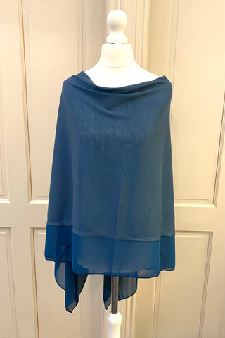Light Weight Poncho - Tiffany Blue