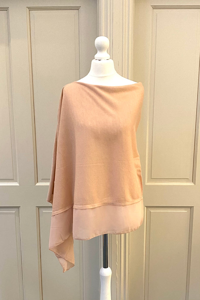 Light Weight Poncho - rose pink