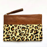 Leather Animal print bag/clutch
