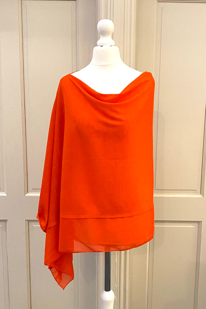 Light Weight Poncho - tangerine