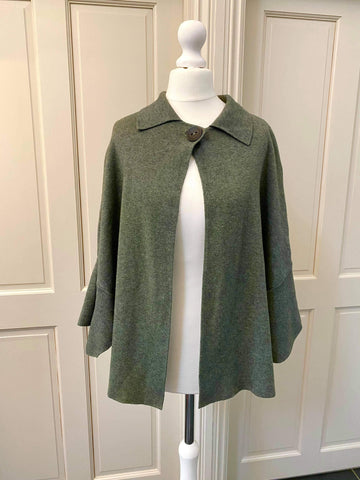 Khaki button cardigan, Was £40 now £20