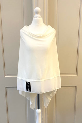 Light Weight Poncho - white