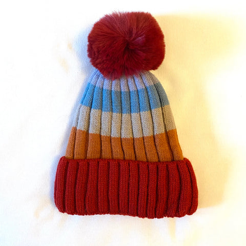 Bobble Hat - red