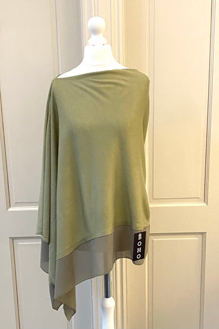 Light Weight Poncho - dark green